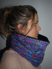 snood pois ton violet