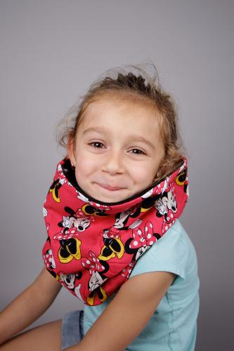 snood enfant rouge minnie