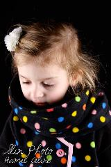 snood enfant polaire pois multicolor