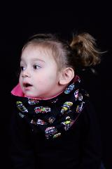 snood enfant noir van hippie