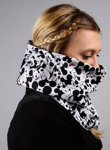 snood mickey noir et blanc