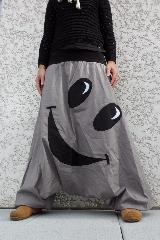 sarouel gris smiley noir