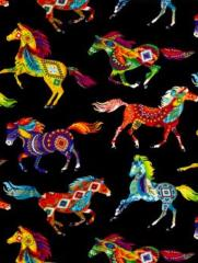 snood enfant  chevaux multicolores