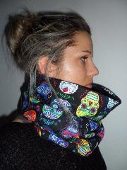 snood noir skull multicolore