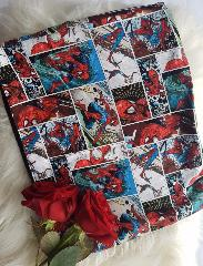 snood enfant spiderman vignette bleu