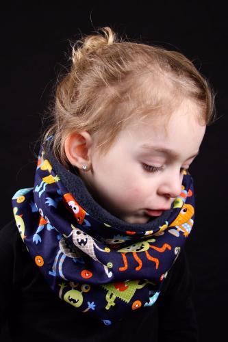 snood enfant bleu mostres rigolos 7d73ec335f4
