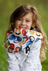 snood enfant blanc matriochka