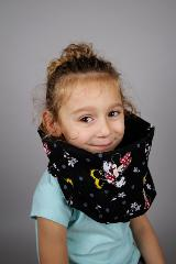 snood enfant noir  minnie 2