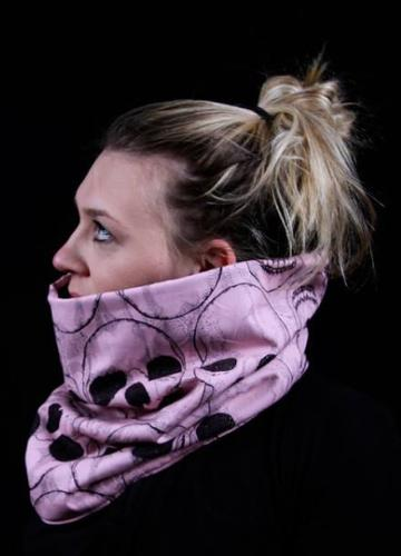 snood skull rose