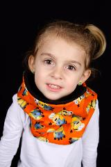snood enfant orange minions