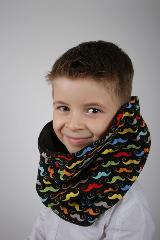 snood enfant  moustaches couleurs