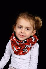 snood enfant rouge dalmatiens