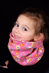 snood enfant rose titi