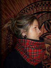 snood ecossais rouge