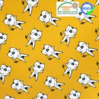 snood enfant animaux chat ocre