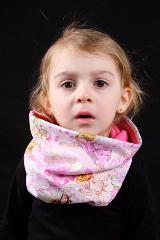 snood enfant rose fée