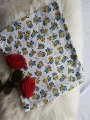 snood enfant minions blanc