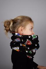 snood enfant  marvel kawaii noir vignettes