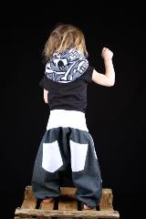 sarouel enfant jeans poches blanches