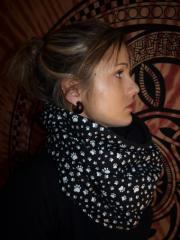 snood patte noir et blanc