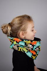 snood enfant dinosaure