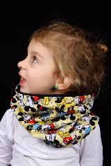 snood enfant mickey jaune