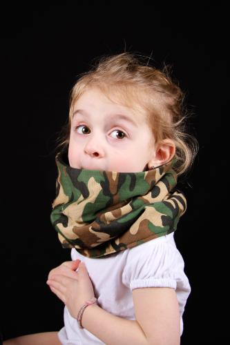 snood enfant camouflage