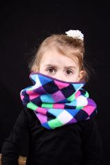snood enfant arlequin multicolor
